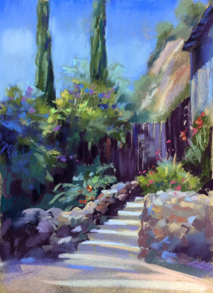 California Courtyard  12X9 pastel (1).jpg