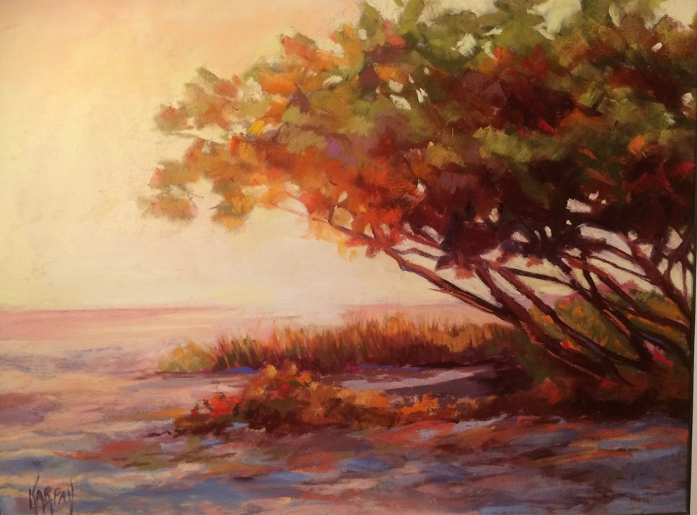Seagrape Sunset, Pastel (2).jpg
