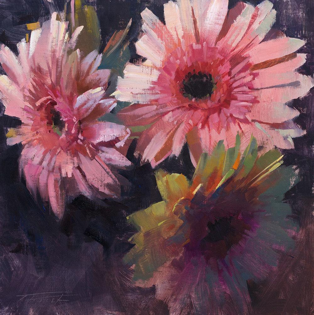 patrick-saunders-painting-floral-gerbera-daisies-fireworks.jpg