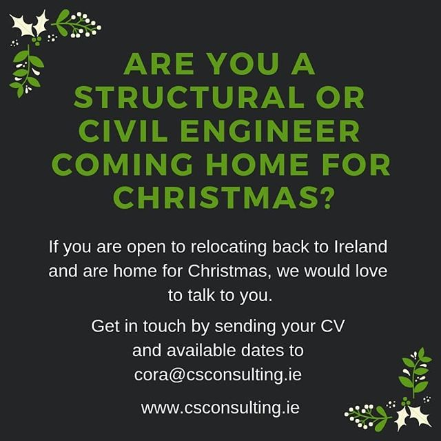 Get in touch!  #jobfairy #careeropportunities #engineering #structuralengineering #civilengineering #dublin