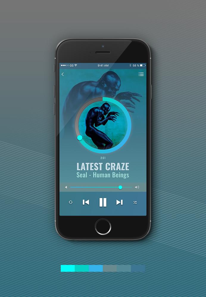 Music player app -