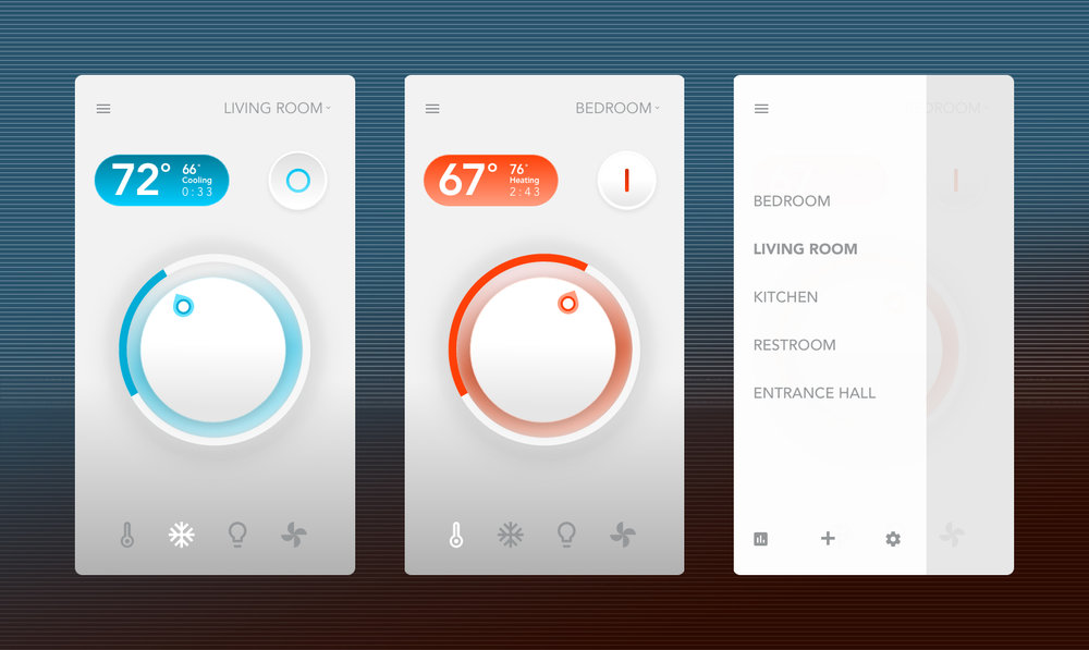 Smart home app settings -