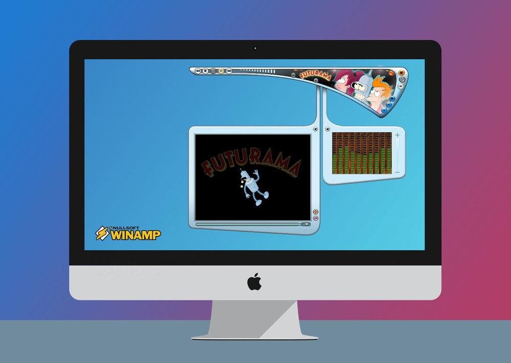 FUTURAMAmusic player - UI Design for Winamp Music Player