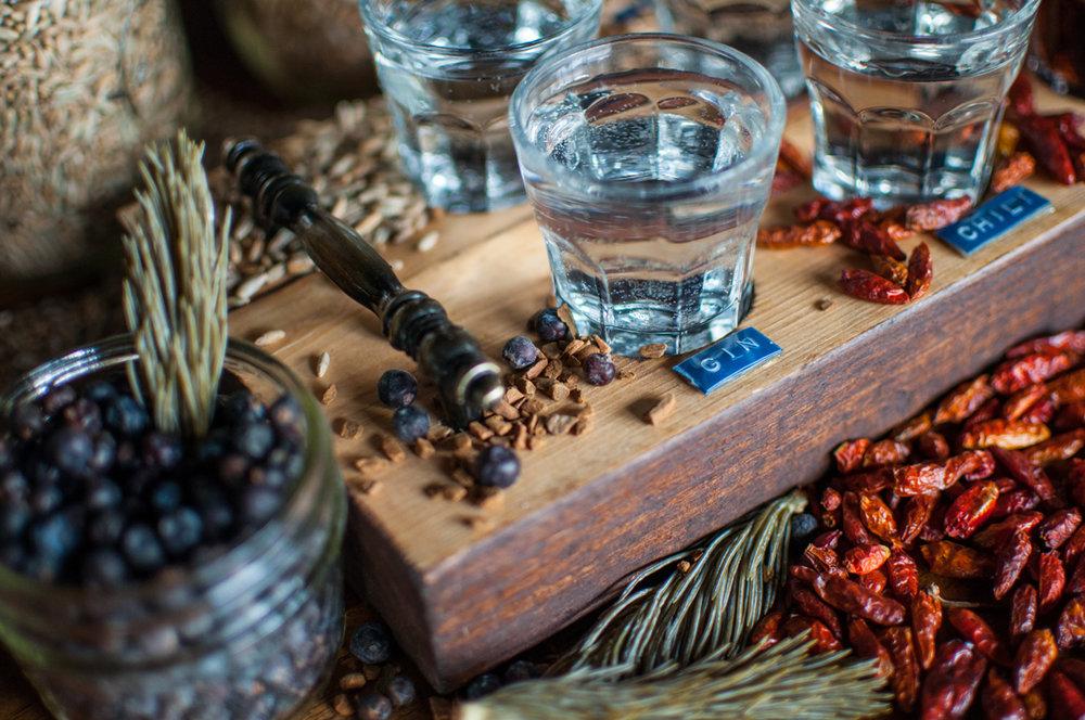 Park Distillery spirit tasting board