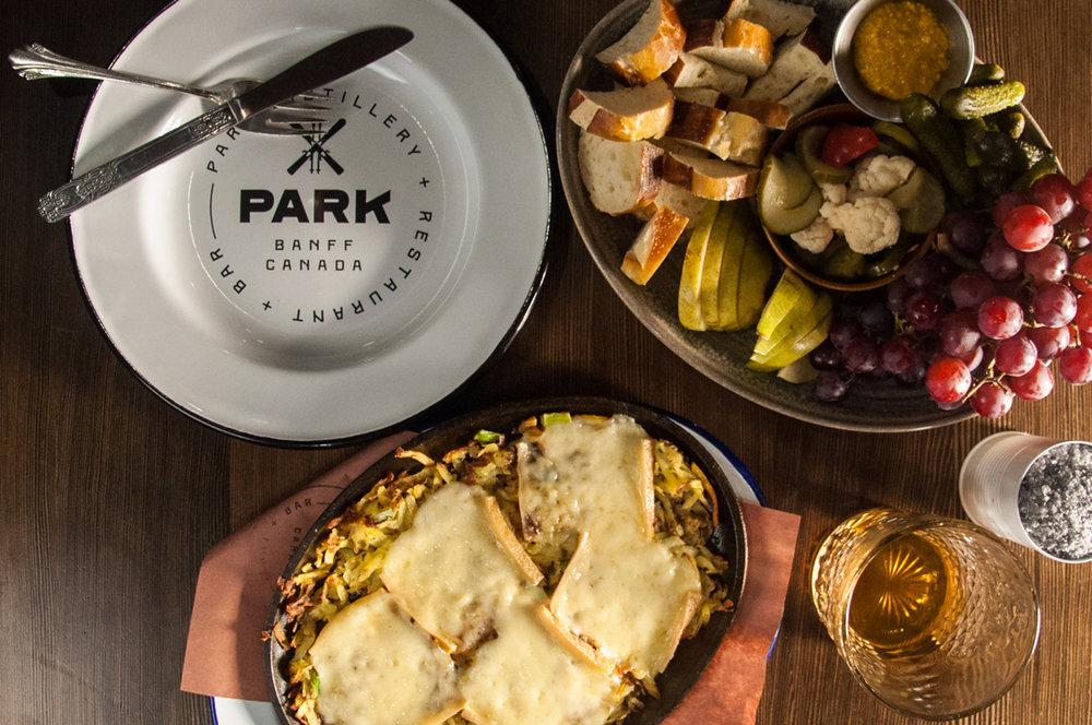 Park Distillery & Restaurant enamel plate