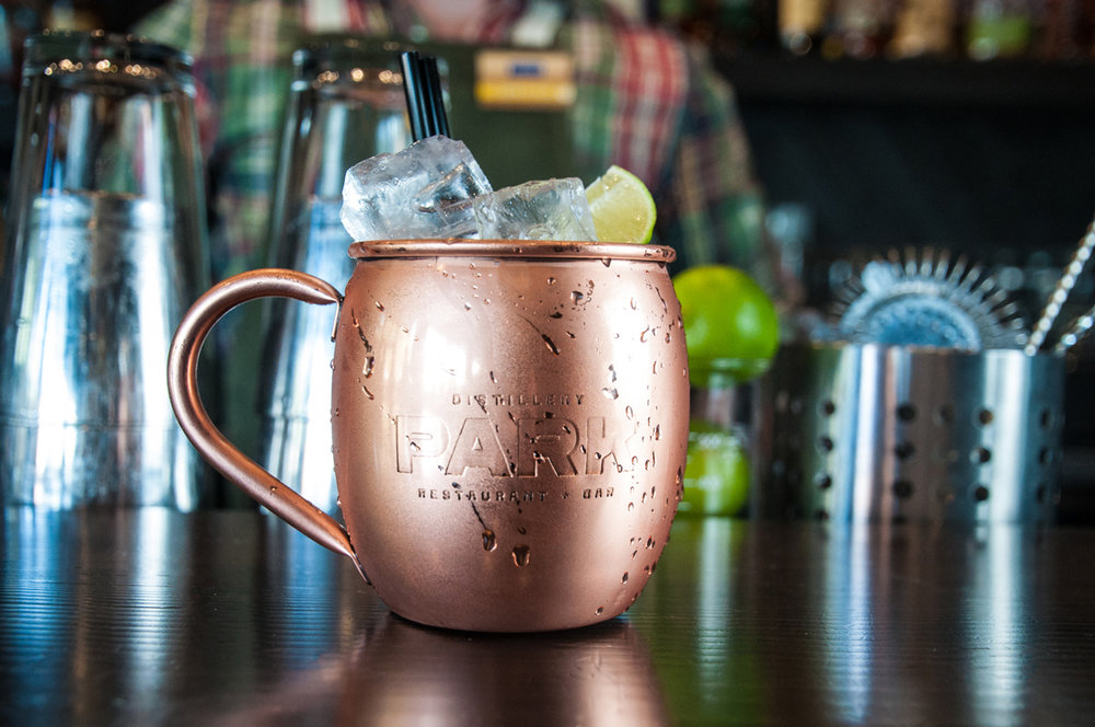 Park Distillery Restaurant & Bar Fifi's mule signature cocktail made with Park Classic vodka