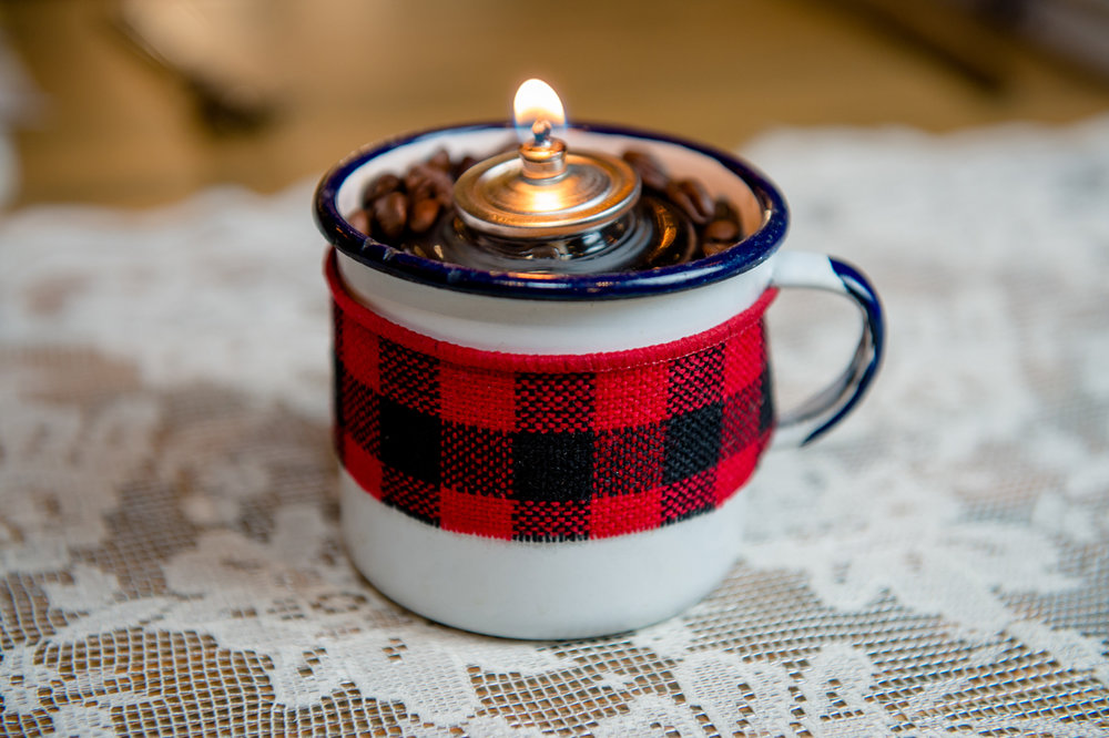 Tin Cup Candle Holder