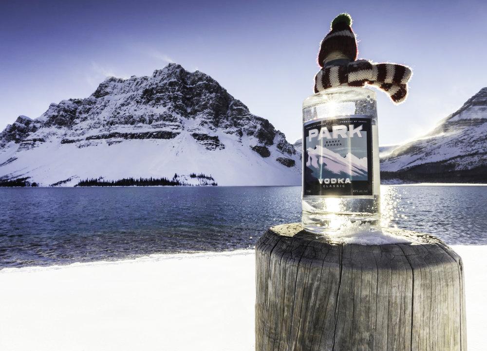 PARK vodka bottle mountains sun lake scarf Lindsay.jpg