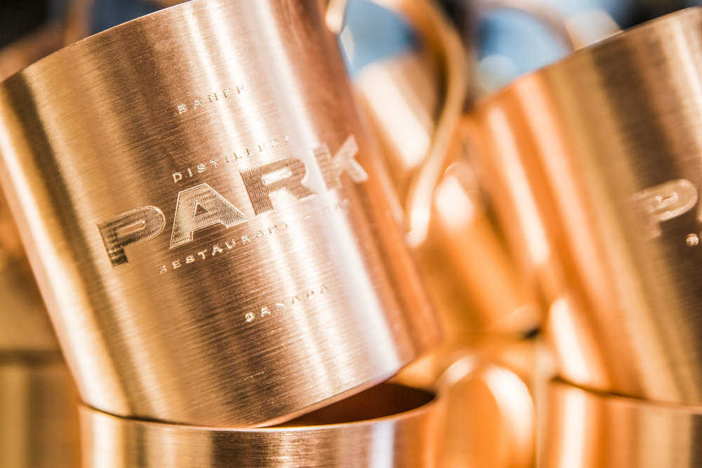 Park Distillery copper cup shop