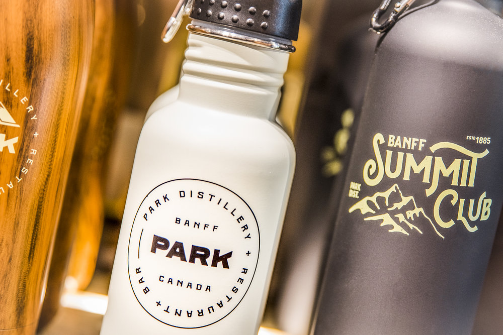 Park Distillery Hand made spirits & waterbottles