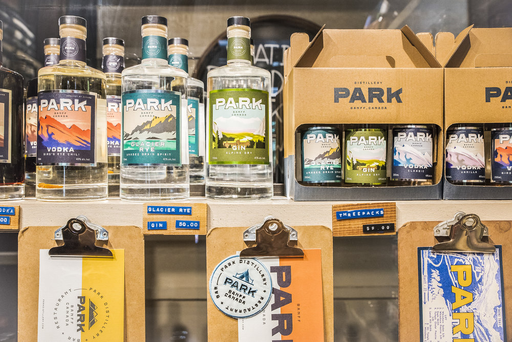 Park Distillery Hand made spirits shop