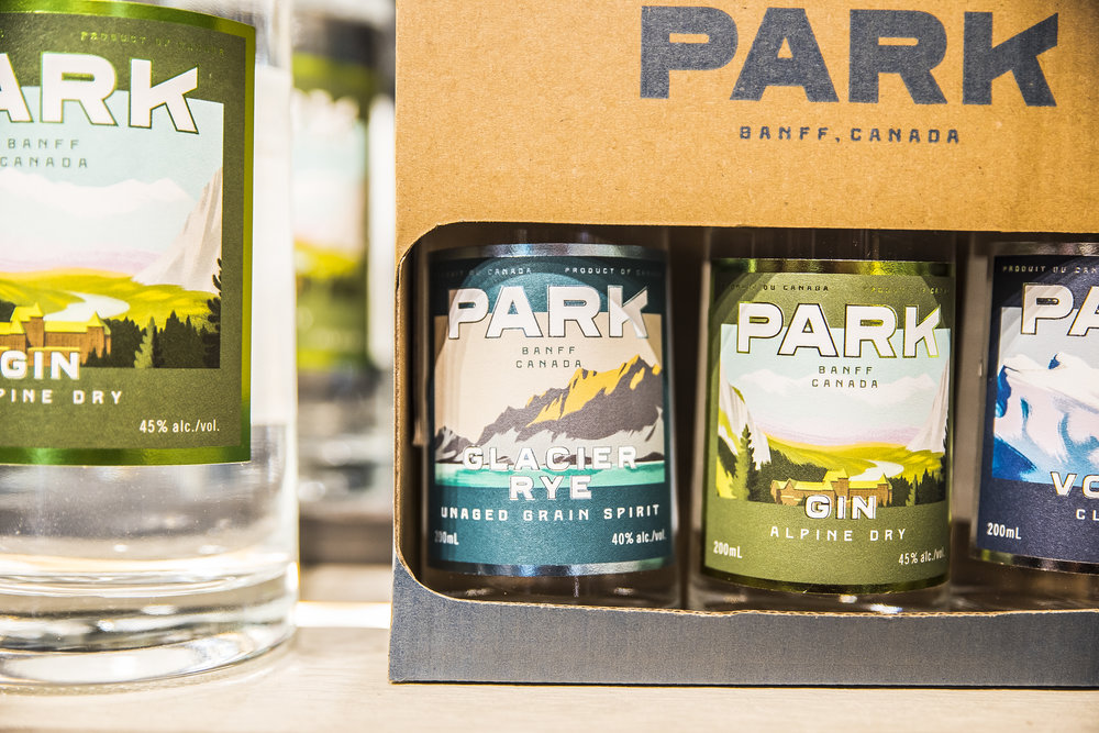 Park Distillery hand made spirits Banff National Park