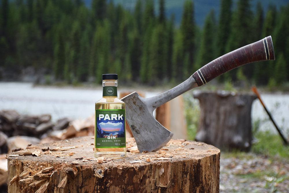 Barrel Aged Gin Camping