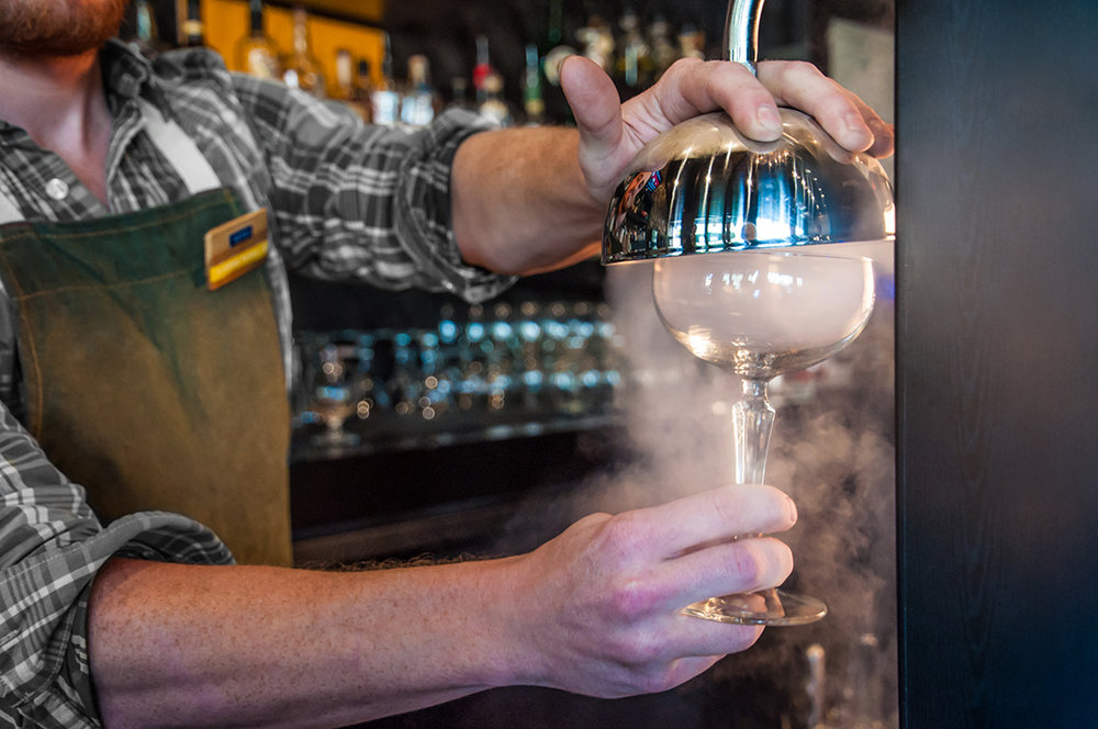 Bartender Smoking Glass | Photo Credit: Anna Robi