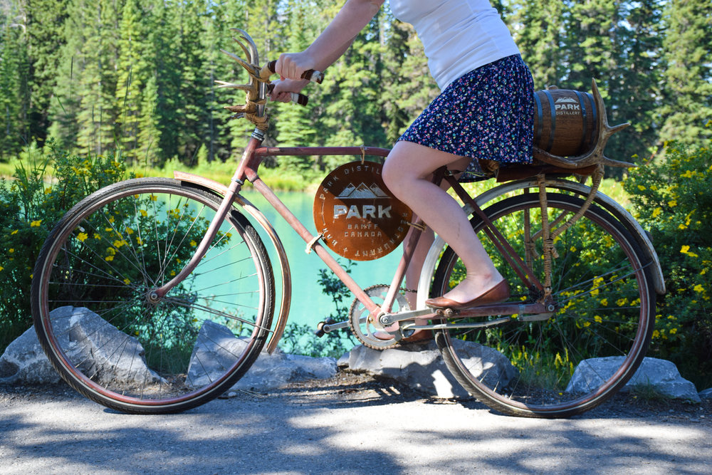 Park Bike at the Bow River | Photo Credit: Park Distillery Images