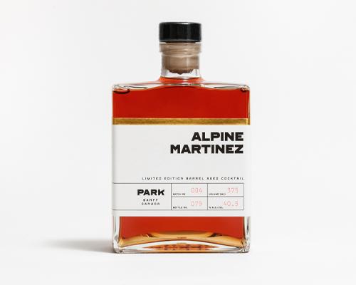 Park Distillery + Restaurant + Bar  Barrel Aged Alpine Martinez