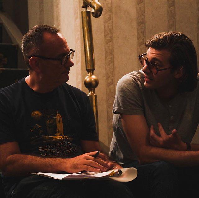 Lead @zebedeerow and Director @rhoadeskill33 on Set 🎬🎬 #thestaymovie