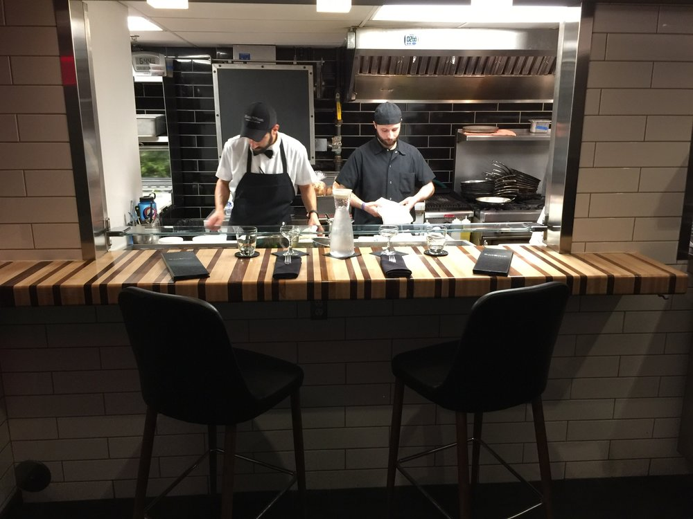 On the left is Executive Chef, James Wilhelm,designing the menu for our Chef's Counter. Be sure to reserve a spot for a great experience and magnificent food.