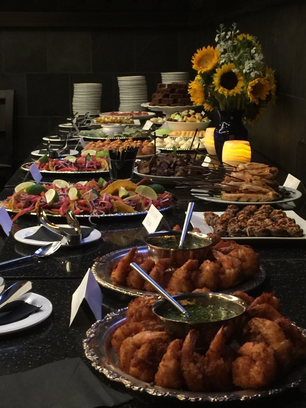 The fruits of our labor: a private event feast fit for our guests.We have many options for every event; no matter if your party is small or large, we can be the perfect fit for you.