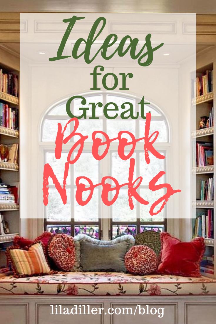 Idea for Great Book Nooks at  www.liladiller.com/blog/book-nooks .