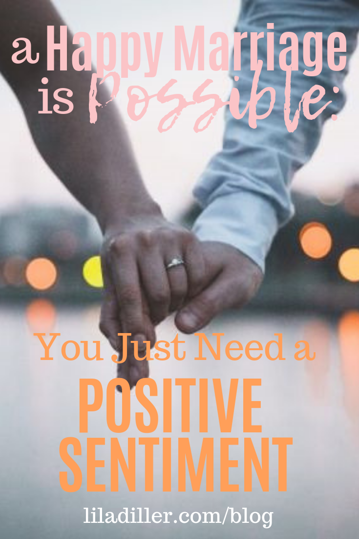 a happy marriage is possible: you just need a positive sentiment