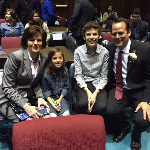 The Weninger family on Opening Day of session.
