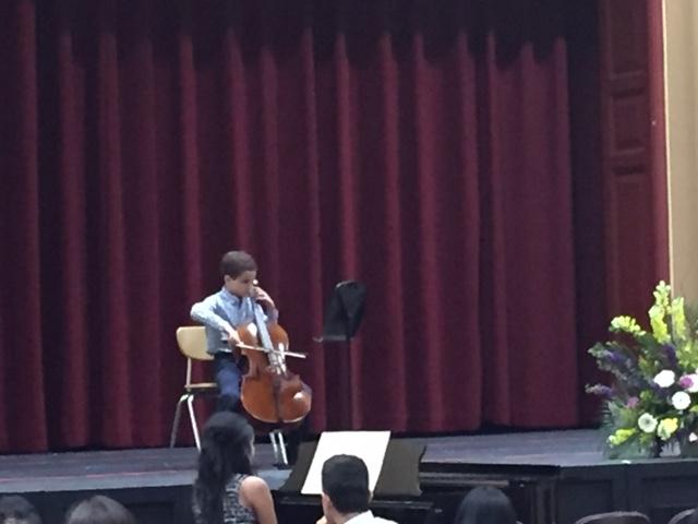 Yazan Alissa performs Suzuki's Etude.