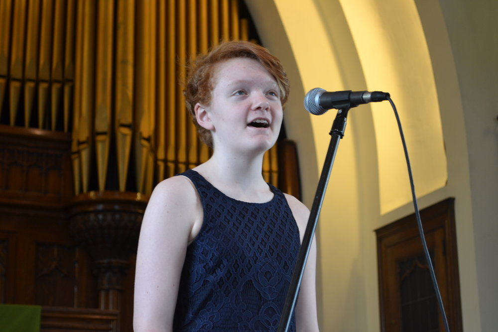 Hannah Rokisky sings at the Solo Recital