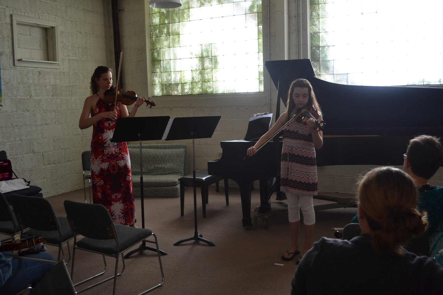 Ava Heinricher and Ms. Elisabeth perform together
