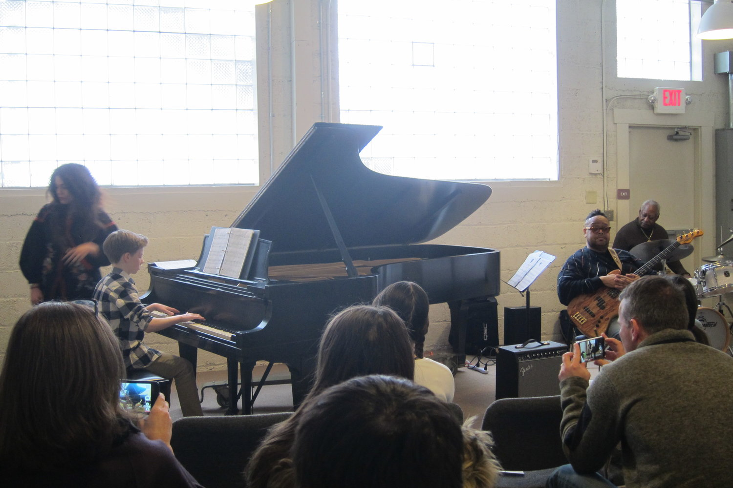 Gabi Gotz enjoyed jamming with Roger Humphries and friends at the Jazz workshop
