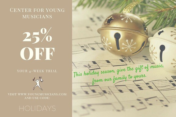 With the holidays almost upon us, what better gift to give than the gift of music? Sign-up for a 4-week trial and use code HOLIDAYS to receive 25% off your first month with us!