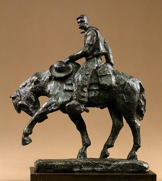 """Trail Boss"", 1958, bronze.  #harryjackson #artist #nycartist  #curator #master #arthistory #bronze #sculptor #sculpture #painter #americanwest #artcollector #collector #realism #figurativeart #abstractexpressionism #oilpainting #americanart #midcenturymodern #modernism #postwar #pollock #dekooning #newyork #littleitaly #wyoming #italy #marines #wwii #cowboy"