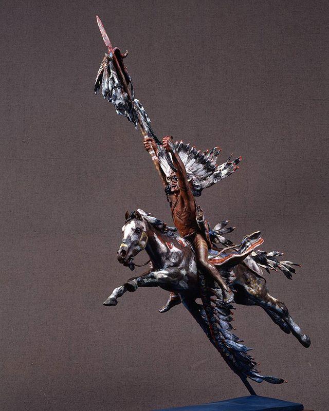 """The Victor, Painted"", bronze and fat egg tempera, 1991  #harryjackson #artist #nycartist #curator #master #arthistory #bronze #sculptor #sculpture #painter #americanwest #artcollector #collector #realism #figurativeart #abstractexpressionism #oilpainting #americanart #midcenturymodern #modernism #postwar #pollock #dekooning #newyork #littleitaly #wyoming #italy #marines #wwii #tarawa"