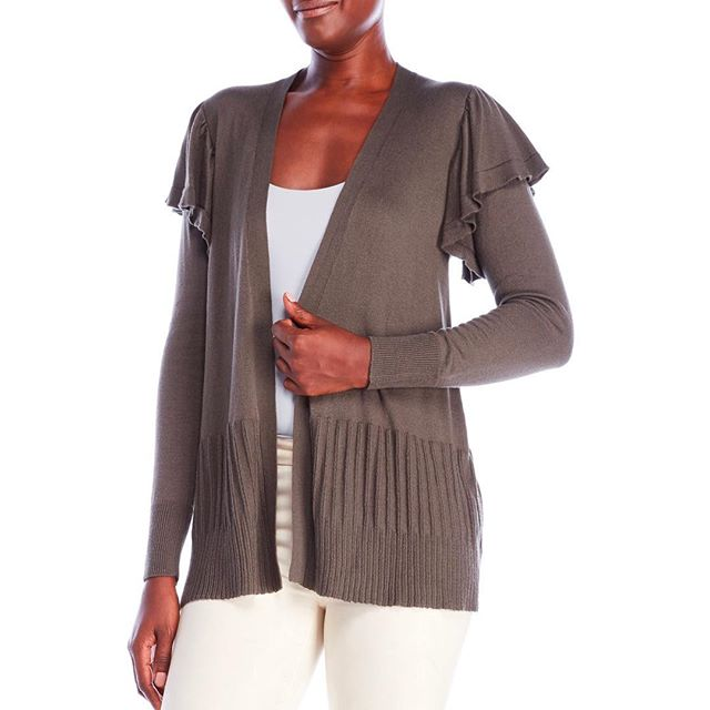 Ruffles some feathers in this not so basic cardi! #myaugustsilk