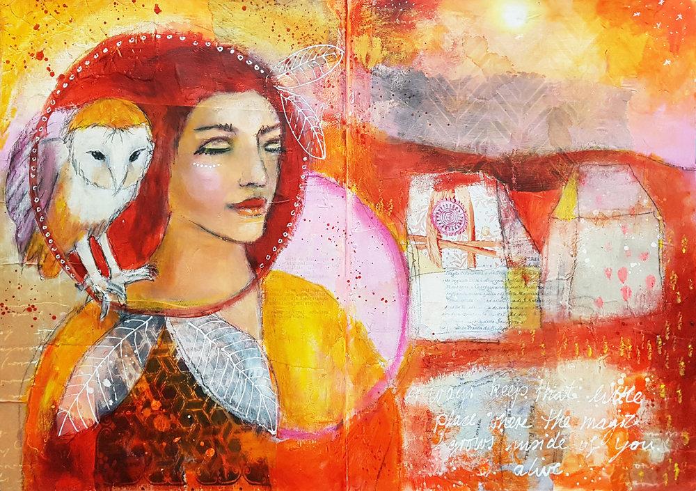 Pia Rom for the Creative Retreat Art is Magic