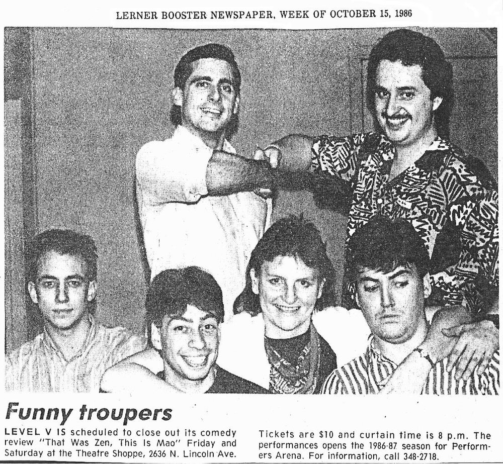 In 1985-86 I worked with some great talent at the Second City workshops, among them, Marty Duffy, author Marcia Wilkie, Keith Cooper, former CEO of Twitter Dick Costolo (one of the FUNNIEST people I know) and Steve Carell...so much FUN!!!