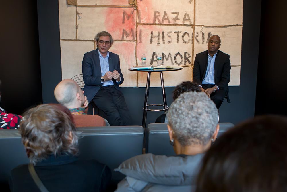 Roberto Diago with Curator, Alejandro de la Fuente