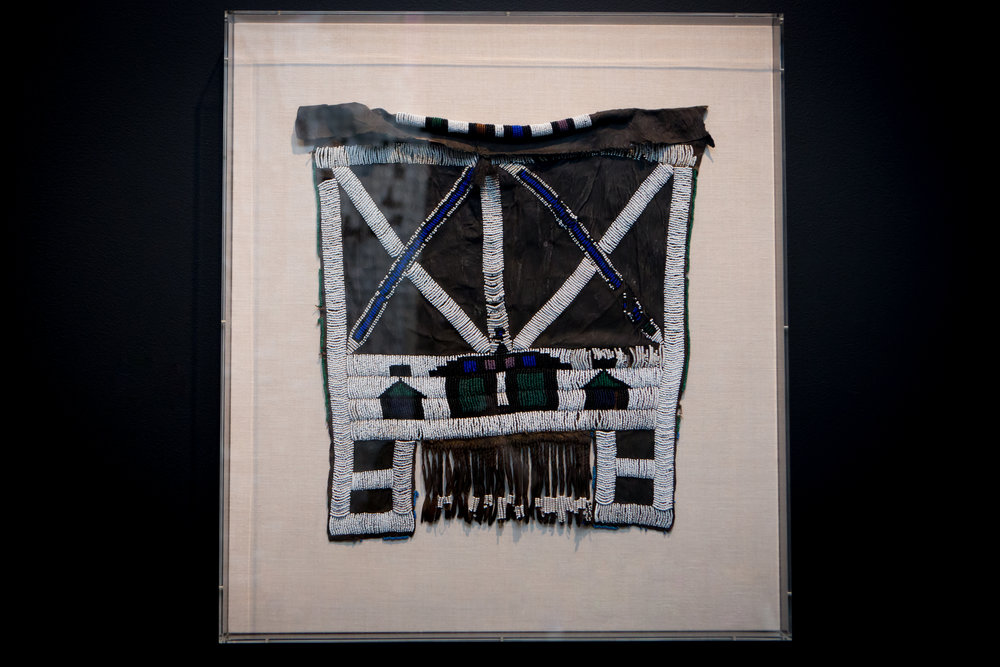 "Ndebele Apron  19 th  century  Beads, fibers, mixed media  29.5 x 26.5 x 2.75"" (74.93 x 67.31 x 6.99 cm)  Courtesy of Florence Ladd"