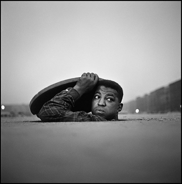 "A week from today is the opening reception for our next show on Gordon Parks. Join us at 6:00 pm, Friday, April 26th, at the Cooper Gallery and be among the first to see the collection. ⠀ ⠀ Image Description: Gordon Parks. ""The Invisible Man, Harlem, New York, 1952."" Gelatin Silver Print . 34 x 34"". Courtesy of the Gordon Parks Foundation"