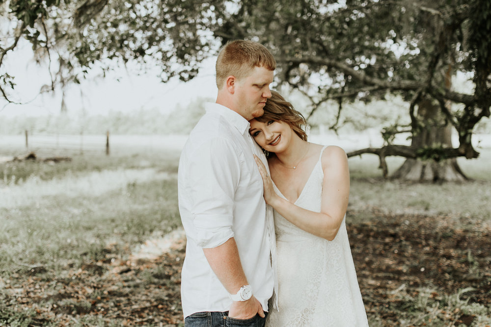 Breaux Bridge, Louisiana Swamp Engagement Session surrounded by Bald Cypress Tree's. Baton Rouge, Louisiana Wedding Photographer, Magnolia and Grace Photography.