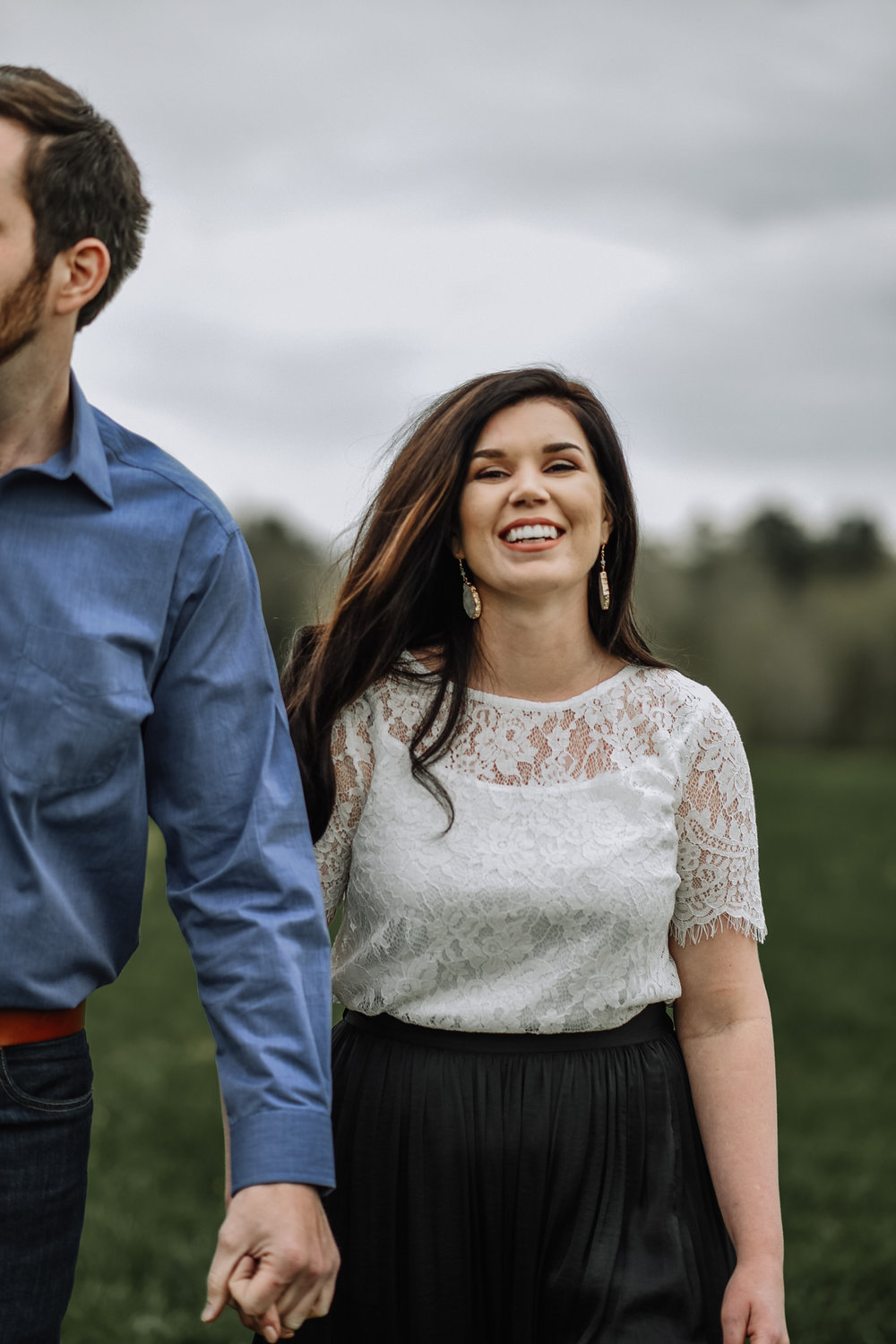 Engagement Session on Country Land in Clinton, Louisiana by Baton Rouge photographer Magnolia and Grace Photography
