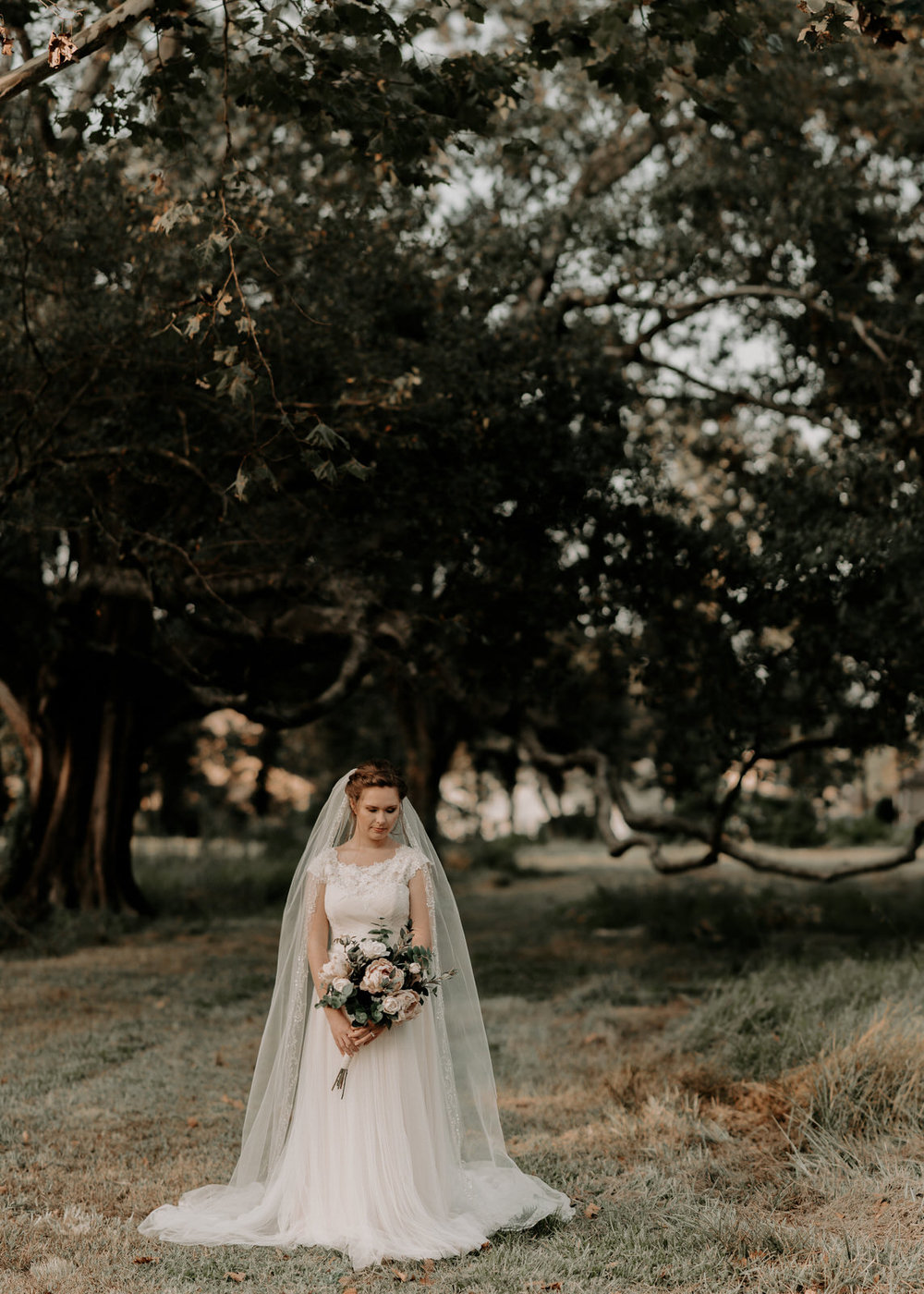 Beautiful, Simple Baton Rouge, Louisiana Bridal Session Pictures located at LSU Hilltop Arboretum Photographed by Magnolia and Grace Photography based out of Denham Springs, LA