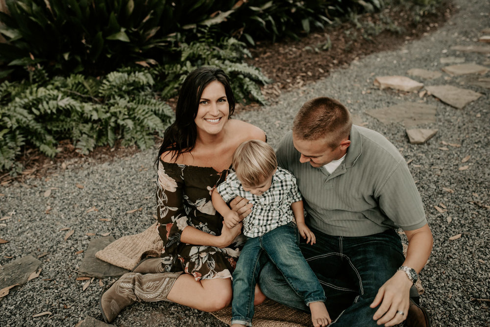 Family and 2 year old pictures at the Chapel in Baton Rouge photographed by Magnolia and Grace Photography based out of Denham Springs and Baton Rouge Louisiana