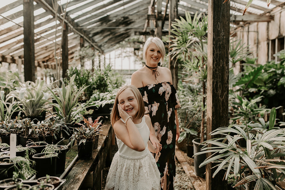 Best photographers in Baton Rouge, Denham Springs, St. Francisville, New Orleans, Covington, Hammond, Gonzales. Professional Lifestyle Family, Children, and Wedding Photographer, Magnolia and Grace Photography     Mommy and Me session at The Red Onion Greenhouse off of Perkins Road in Baton Rouge