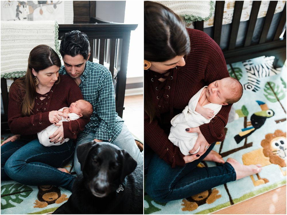 Baton Rouge Lifestyle In Home Newborn Session photographed by Taylor Hubbs Photography, a family, maternity, children, and newborn photographer.