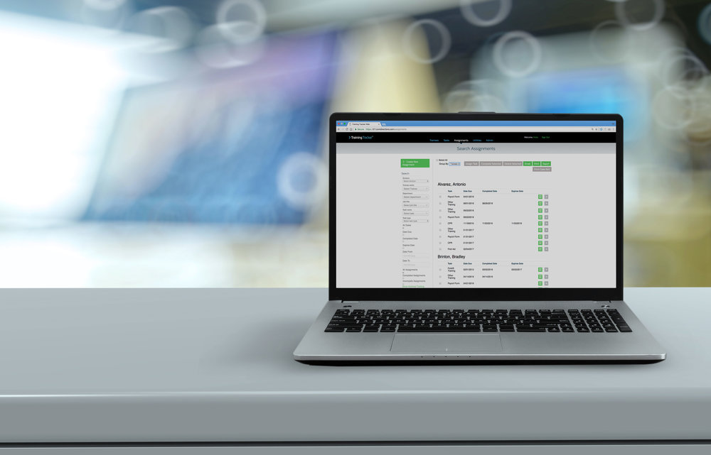 TRAINING TRACKER   Is a single source to manage training and compliance efforts