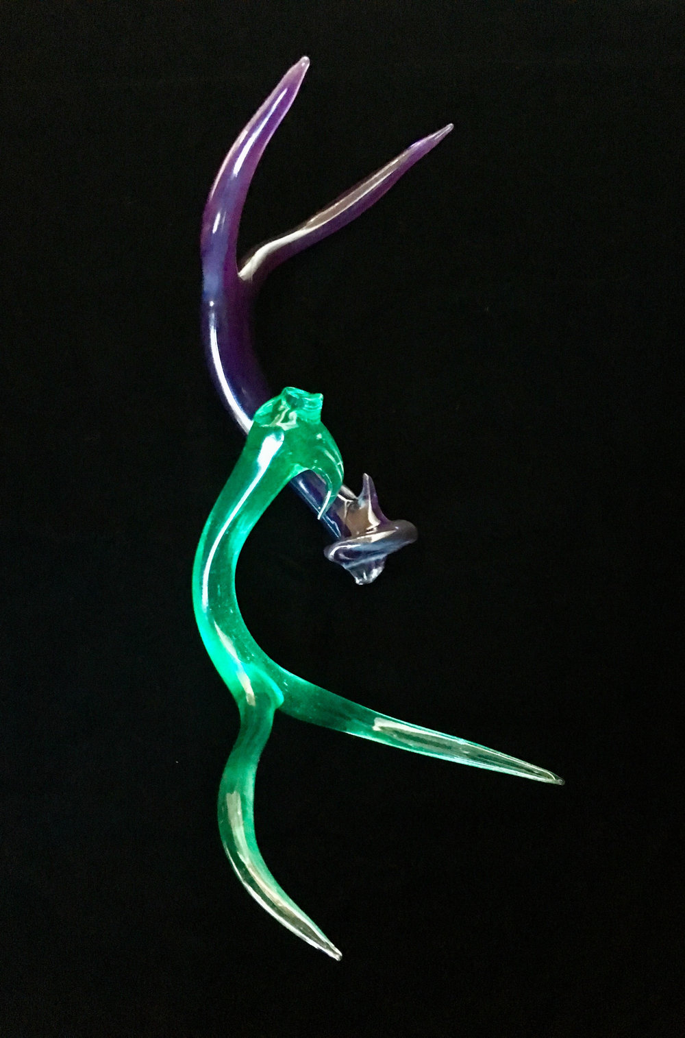 Purple and Green Antlers