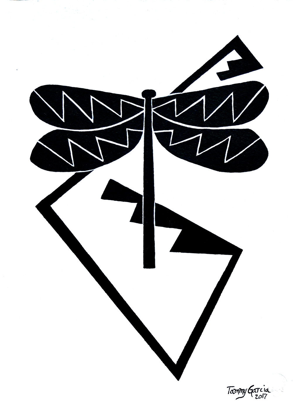 Black Dragonfly Design