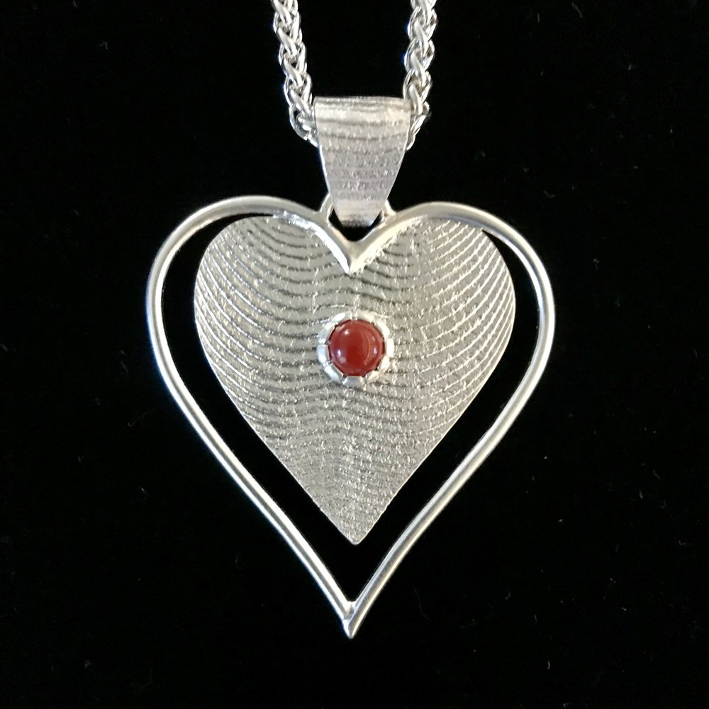 Coral Heart Necklace