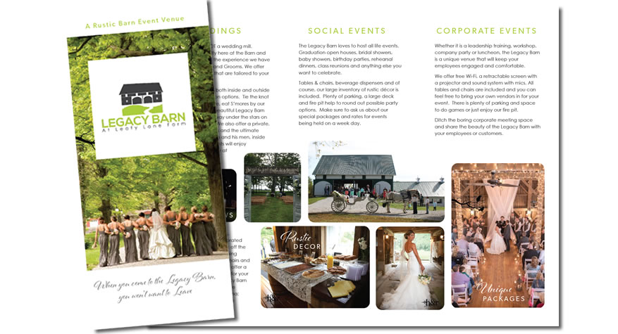 Legacy Barn Brochure